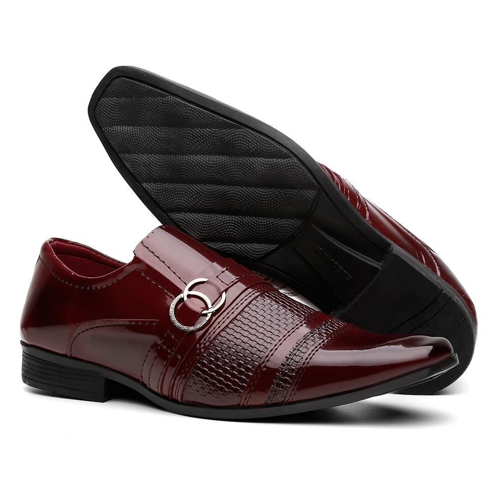 ef0fd5a2a sapato social em verniz masculino barato + cinto + carteira. Carregando zoom .