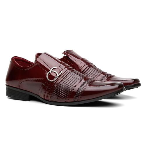 sapato social em verniz masculino barato + cinto + carteira