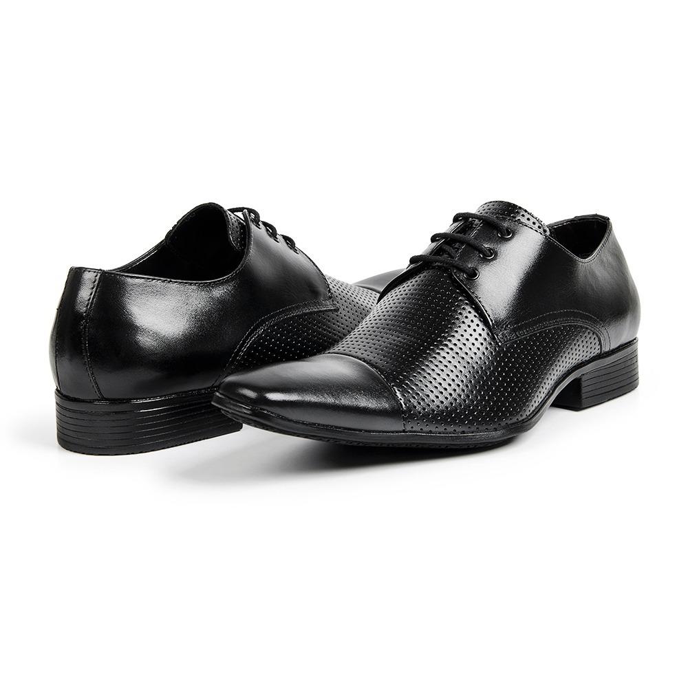c77a7486f sapato social estilo italiano em couro detalhe furos/307. Carregando zoom.