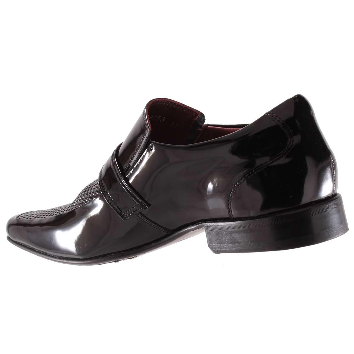 e13455fac sapato social gofer masculino fivela couro verniz 0253a. Carregando zoom.