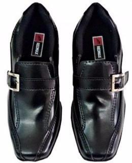 0be90da26 Sapato Social Infantil E Juvenil Masculino Preto + Cinto - R$ 110,00 ...