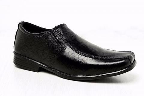 sapato social infantil masculino couro elástico lateral.