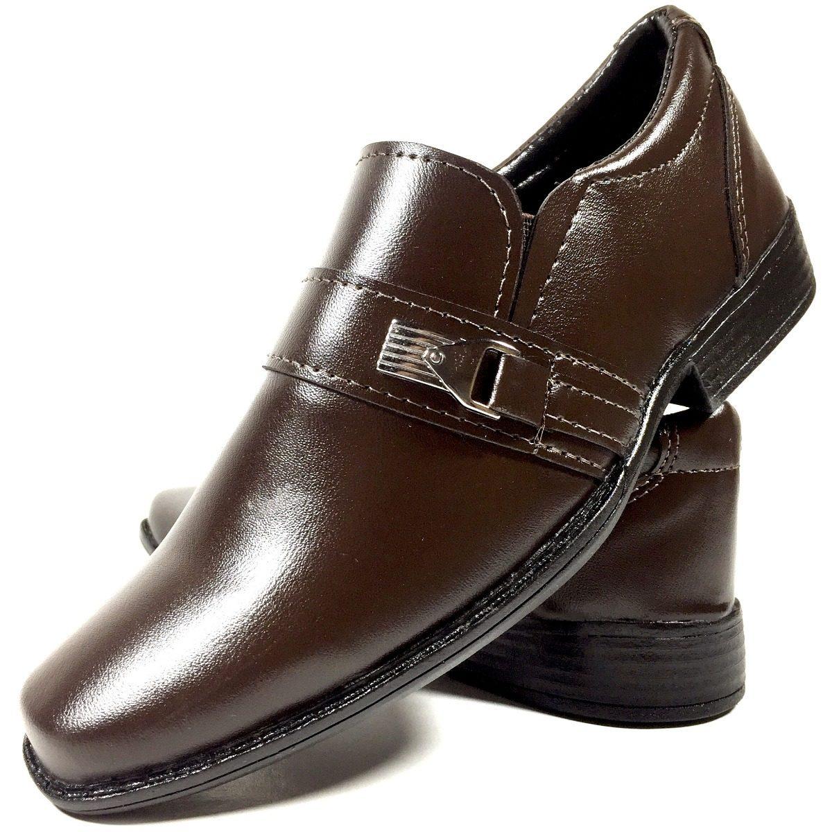 287b34c42 sapato social infantil masculino marrom café franca shoes. Carregando zoom.