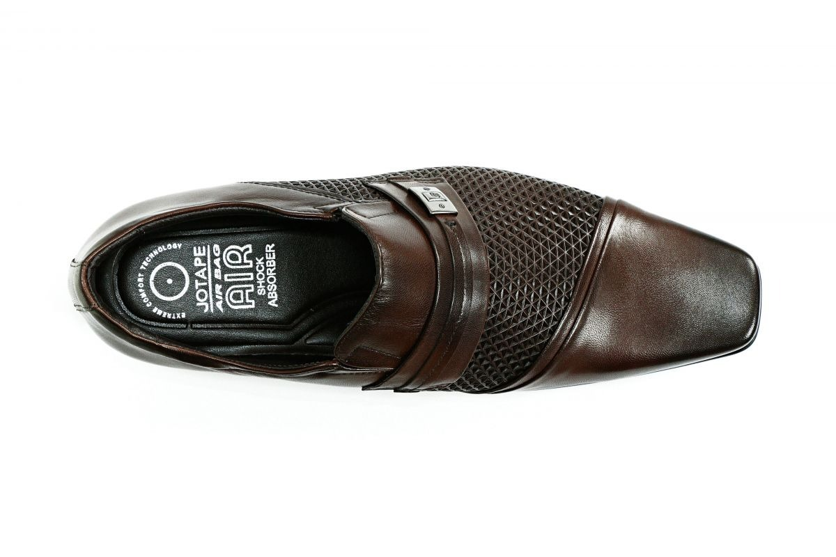 32c5a2e7d7 sapato social jota pe couro marrom barato air bag. Carregando zoom.