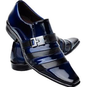 7e3cf3f915 Sapato Couro Masculino - Sapatos para Masculino Violeta escuro no Mercado  Livre Brasil