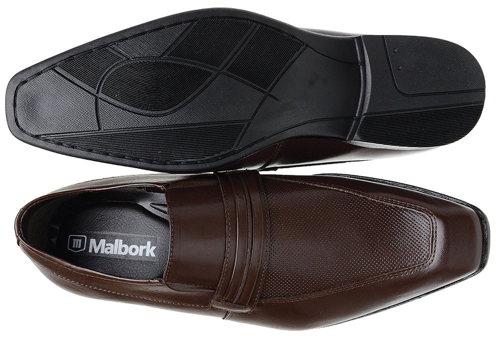 70cc7d733 Sapato Social Malbork Couro Café Solado Borracha - R$ 139,99 em ...