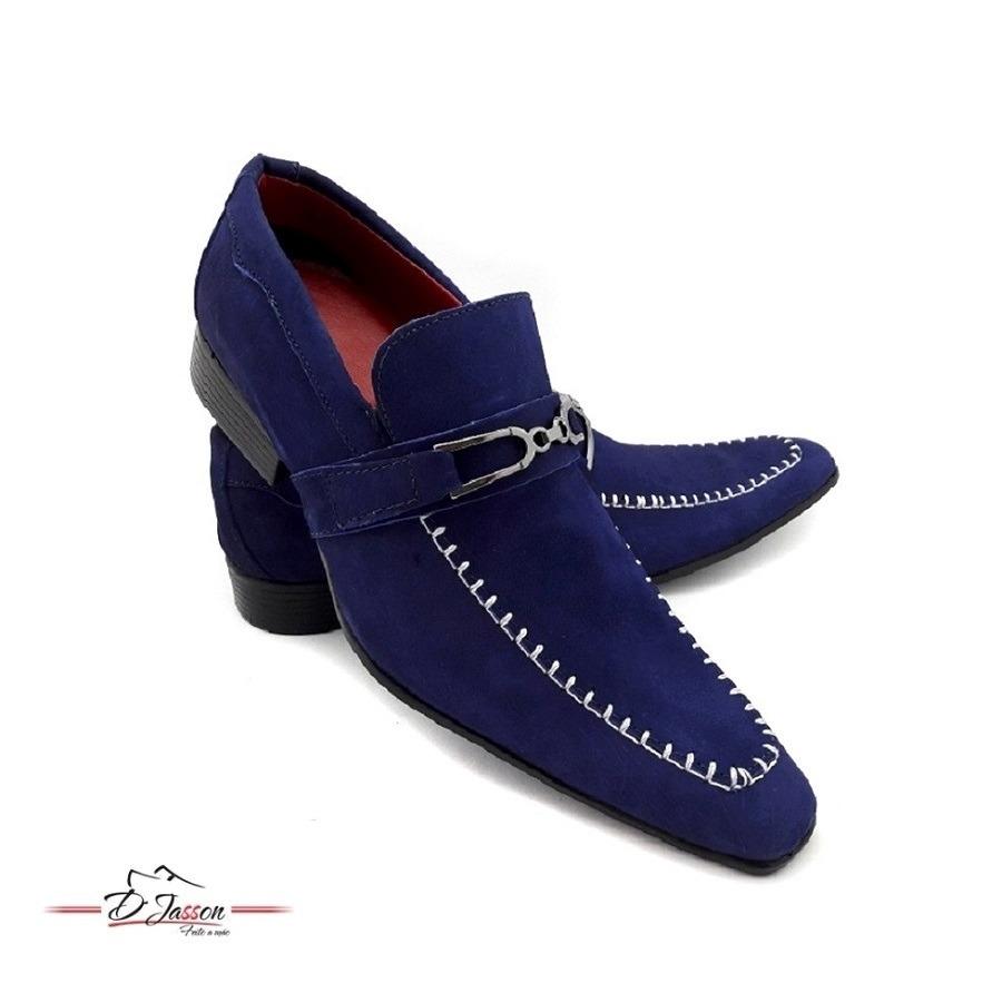 32c817d528 sapato social masculino bico fino couro nobuck sport fino. Carregando zoom.