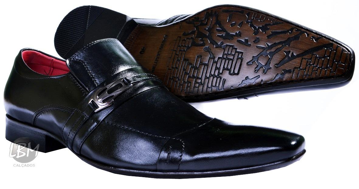 1ae3dbee32 sapato social masculino bico fino solado 100% couro clássico. Carregando  zoom.