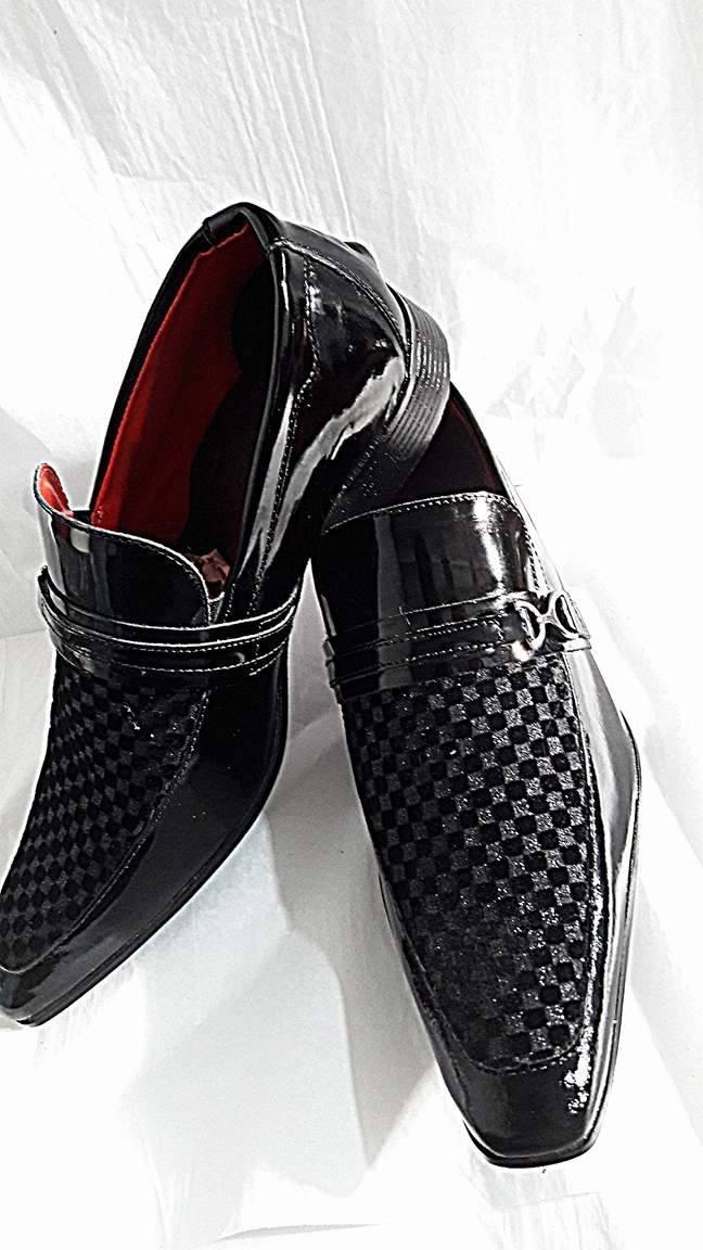 3cd6bfd96 sapato social masculino bico fino verniz luxo brilhante. Carregando zoom.