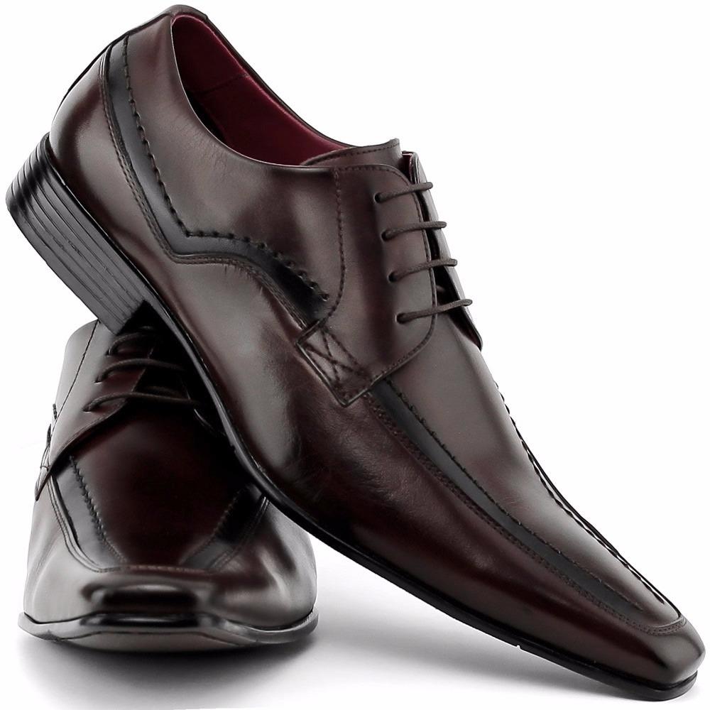 6b15d028a57 sapato social masculino bico italiano couro artesanal. Carregando zoom.