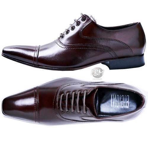 sapato social masculino bico italiano- sem juros frete grati