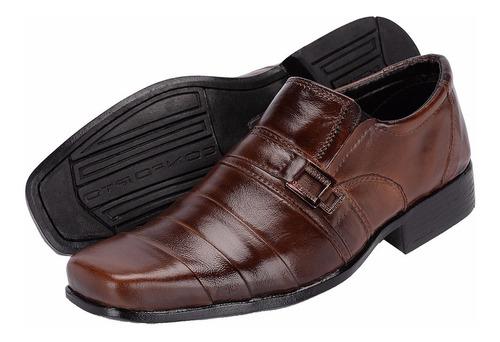 sapato social masculino bico quadrado couro legítimo barato
