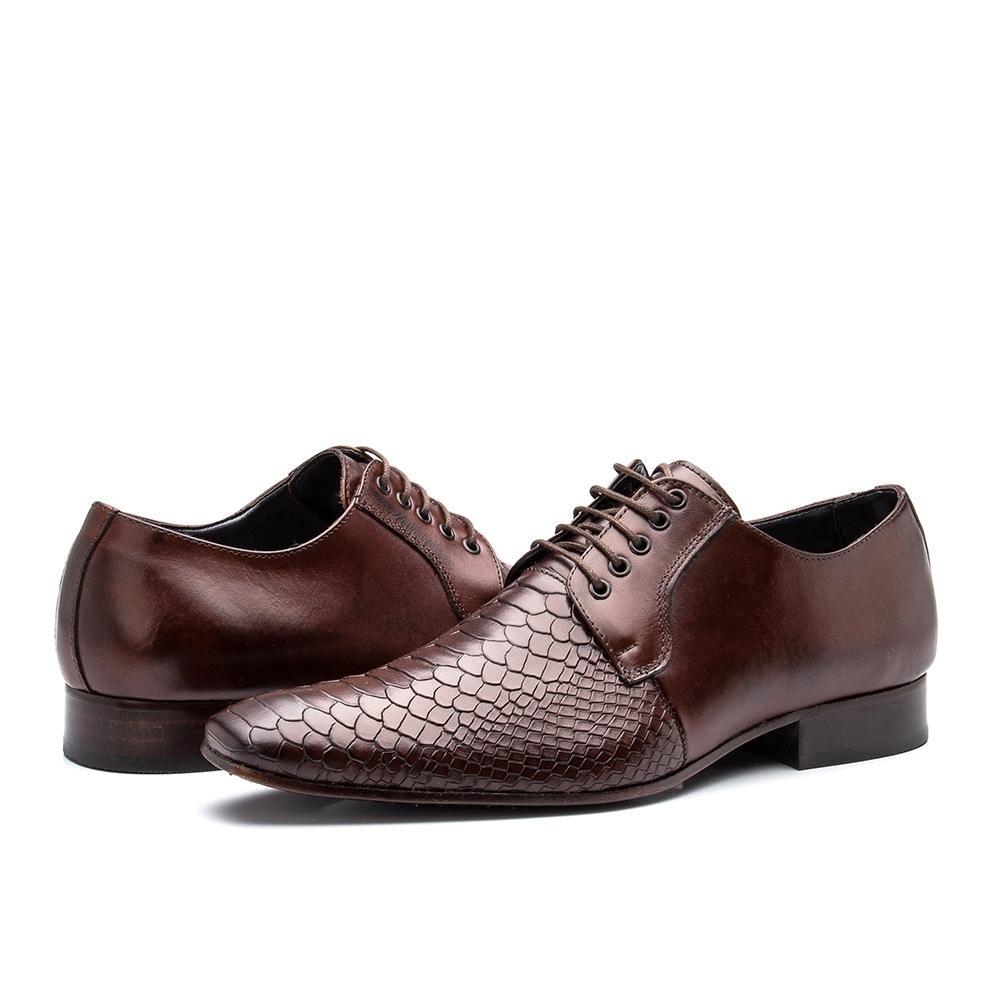 36bc6cf575 sapato social masculino bigioni couro croco de amarrar. 14 Fotos