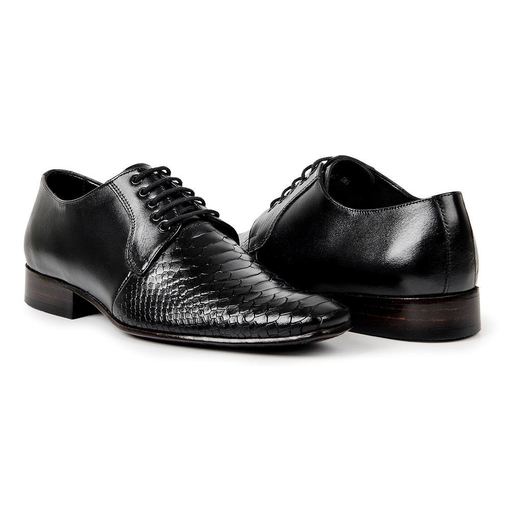 5da5ca4041 Sapato Social Masculino Bigioni Couro Croco De Amarrar - R  249