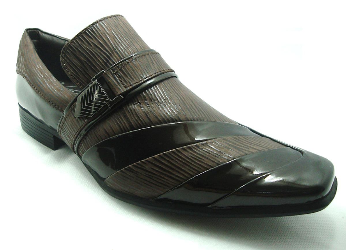 60201458d0 sapato social masculino calvest 1320b166 café couro e verniz. Carregando  zoom.