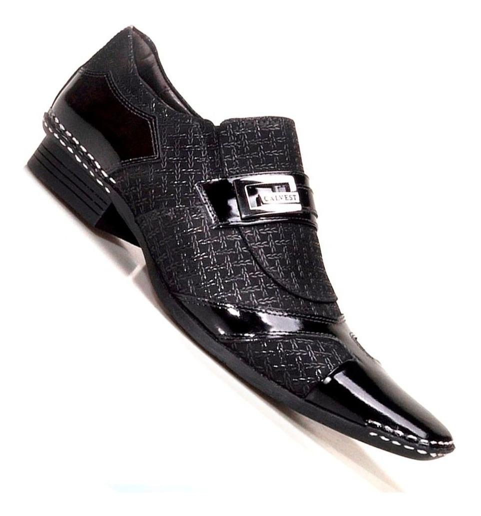 00fdc5d699 Sapato Social Masculino Calvest Em Couro Preto Viena - R$ 168,00 em ...