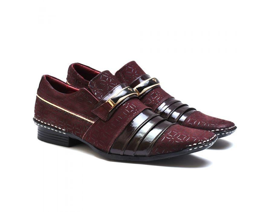 a7f6ca8b41 sapato social masculino calvest em couro verniz 1750c967. Carregando zoom.
