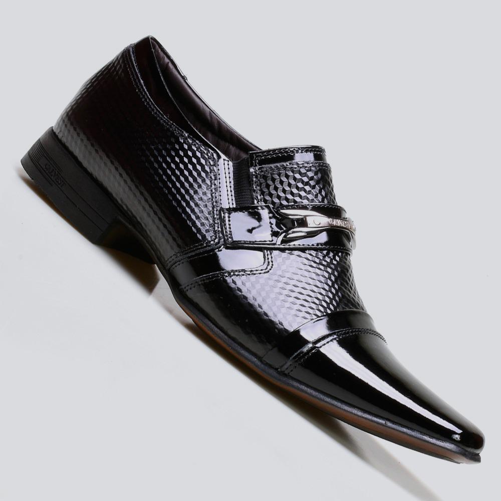 90f57b555 sapato social masculino calvest em couro verniz. Carregando zoom.