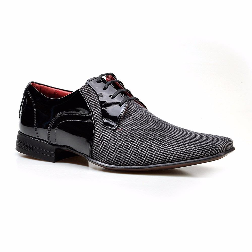 295d3fcf9 sapato social masculino calvest fasano verniz com tecido. Carregando zoom.