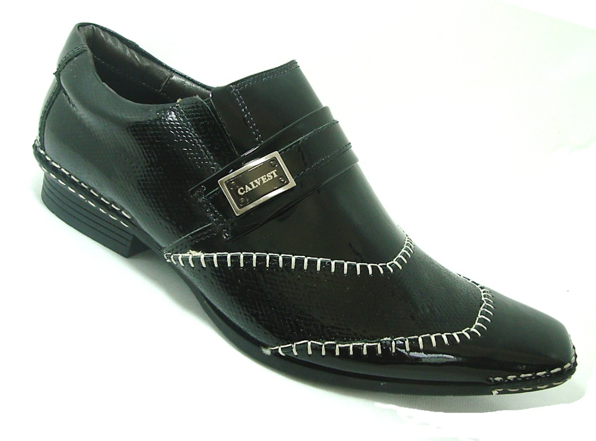 0a9e9e261b sapato social masculino calvest preto couro imperdível! 1540. Carregando  zoom.
