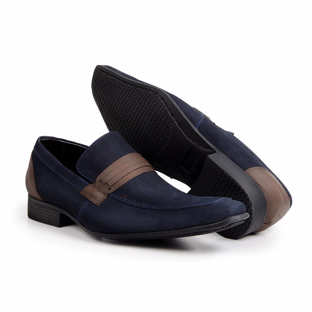 f5a4f3495 sapato social masculino camurça azul bico fino bigioni 359. Carregando zoom.