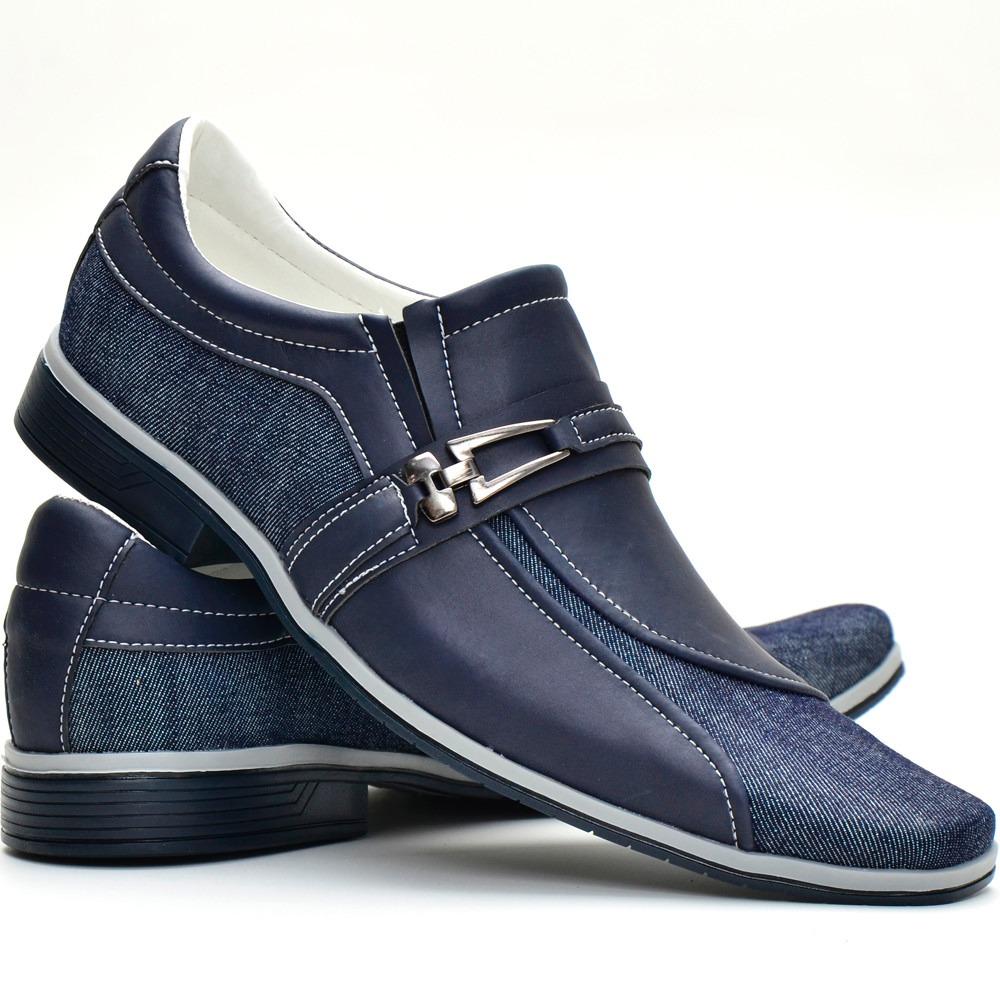 81396dafe sapato social masculino casual jeans azul lançamento barato. Carregando  zoom.