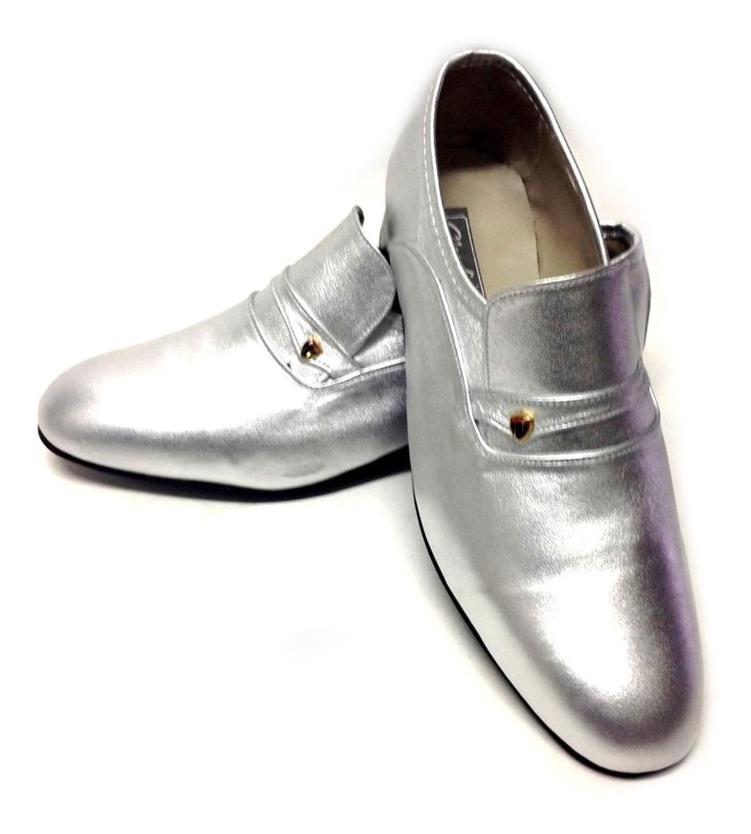 b26f0fb281 sapato social masculino claudiu´s ref.202 couro prata ouro. Carregando zoom.