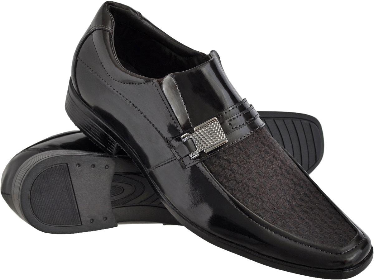 f22123fb5d Sapato Social Masculino Conforto Macio Leve Dia A Dia Verniz - R$ 59 ...
