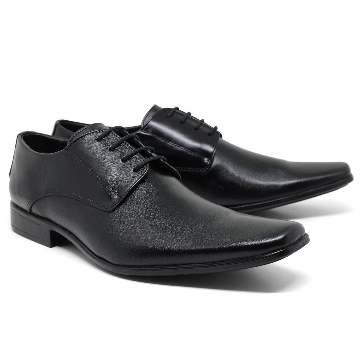c55e7d48f sapato social masculino cor preto cadarço bico fino promoção. Carregando  zoom.