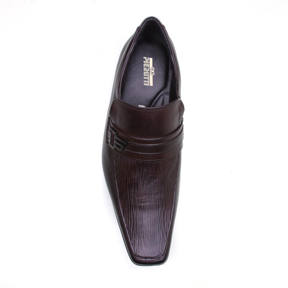 7a485ee8cd sapato social masculino couro bico quadrado calvest pierutti. Carregando  zoom.