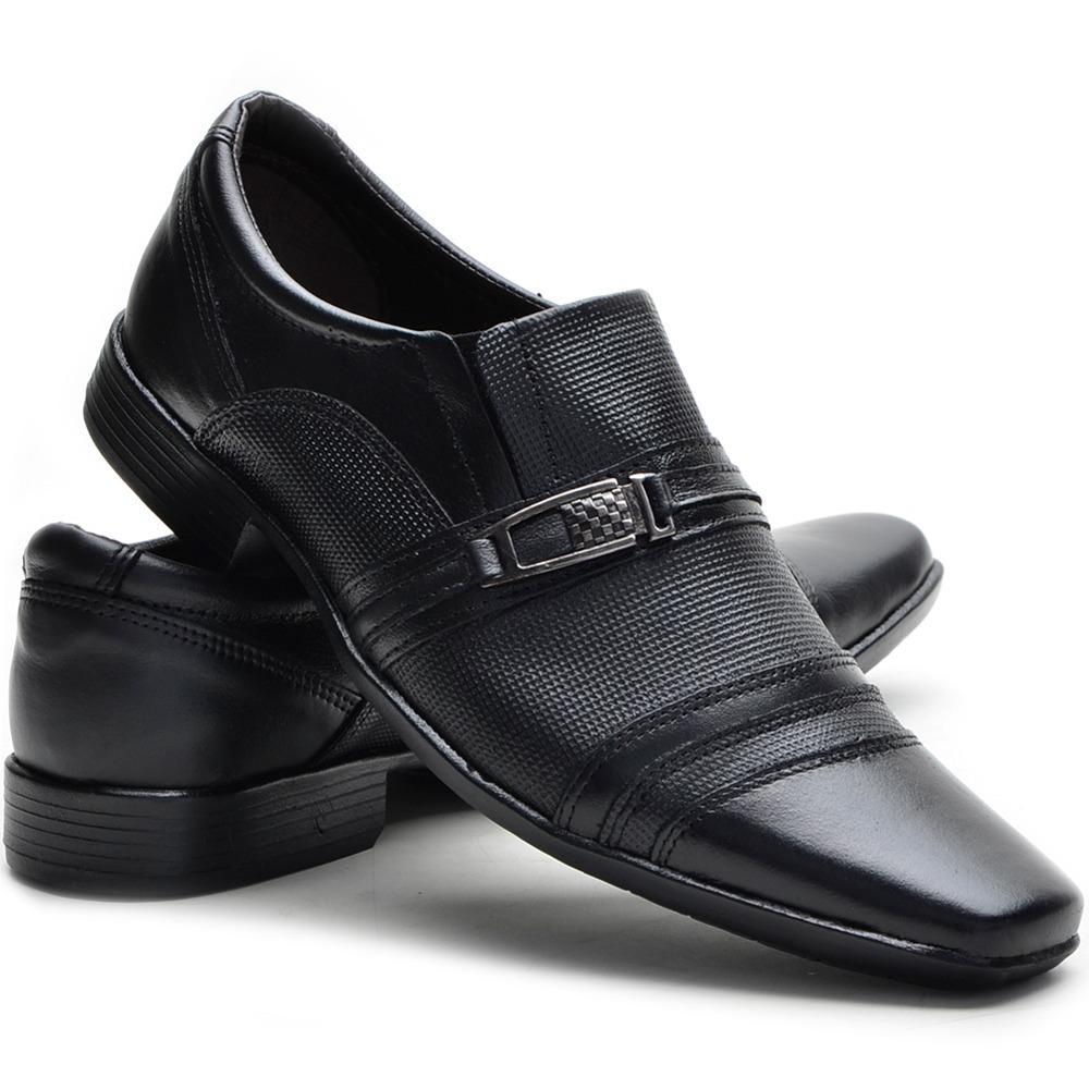 c7eba438f sapato social masculino couro + carteira + meia melhor preço. Carregando  zoom.