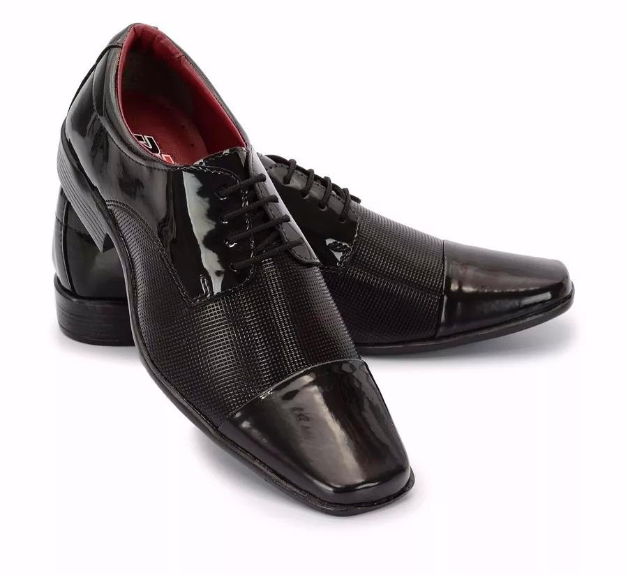 e0ea711a9 sapato social masculino couro detalhe verniz promocao barato. Carregando  zoom.