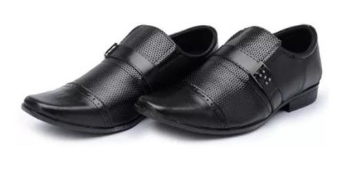sapato social masculino couro ecológico