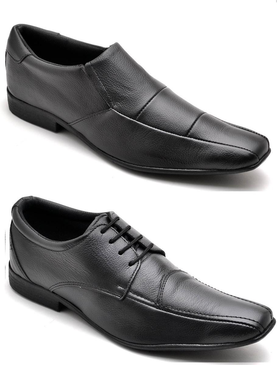bac011d85 sapato social masculino couro kit 2 pares estilo ferracini. Carregando zoom.
