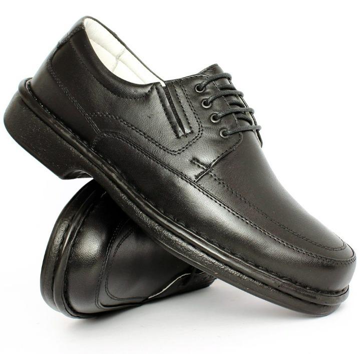 2b693dfc60 Sapato Social Masculino Couro Legitimo Antistress Diabeticos - R ...
