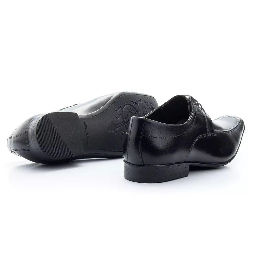849a23fd22 Sapato Social Masculino Couro Legítimo Bico Fino P400 - R$ 181,84 em ...