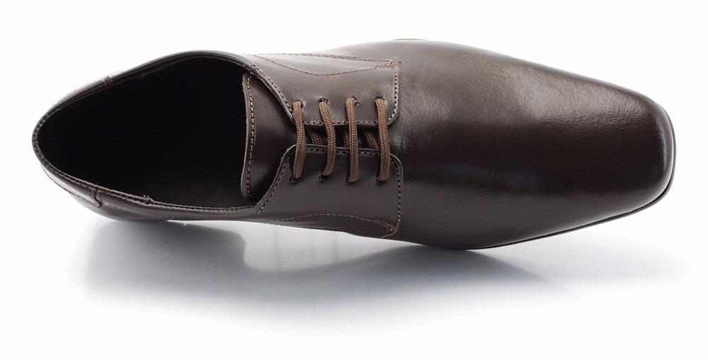 58ba6714a sapato social masculino couro legitimo marrom cadarço. Carregando zoom.