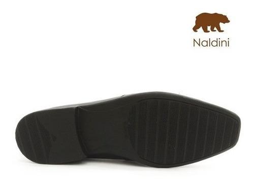 sapato social masculino - couro legítimo - naldini - nt5010