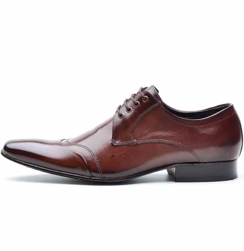 bec3d640f sapato social masculino couro legitimo solado em couro dhl. Carregando zoom.
