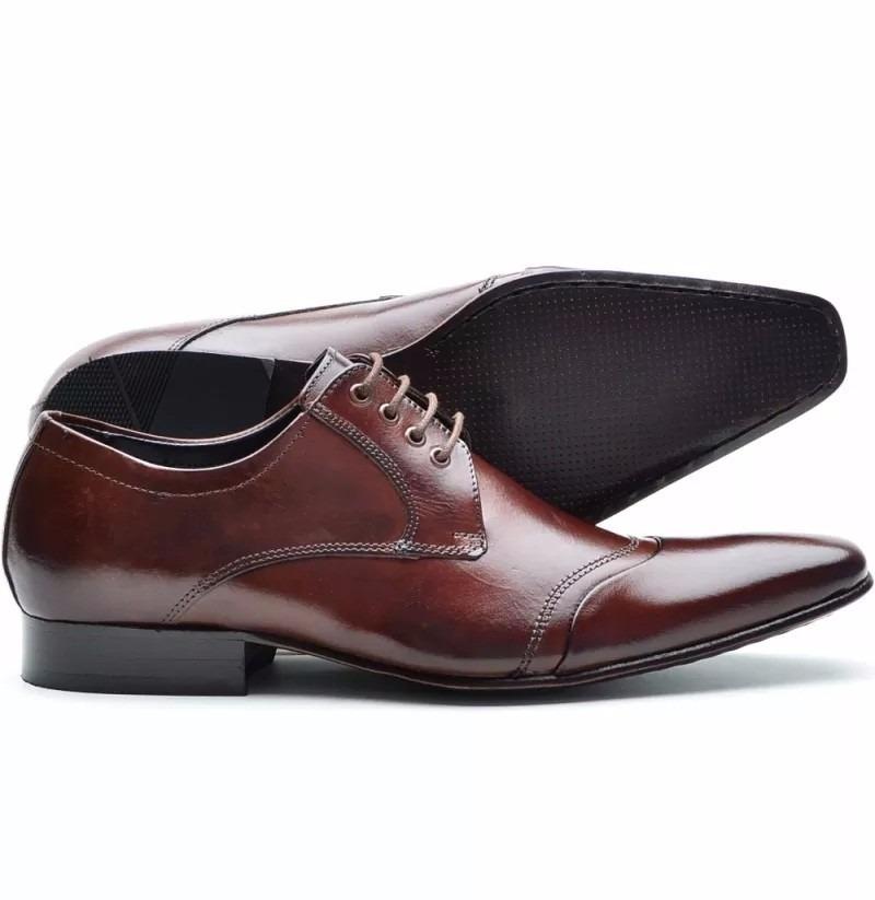 43deefd323 sapato social masculino couro legitimo solado em couro dhl. Carregando zoom.
