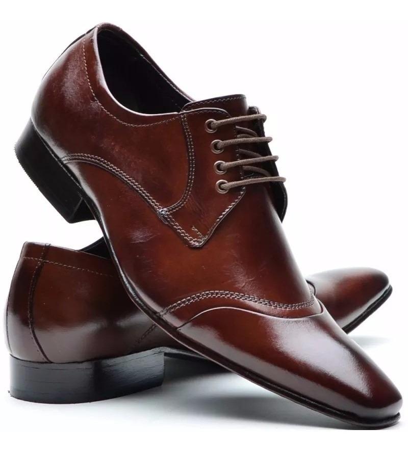 37bfc051f5 sapato social masculino couro legitimo solado em couro dhl. Carregando zoom.