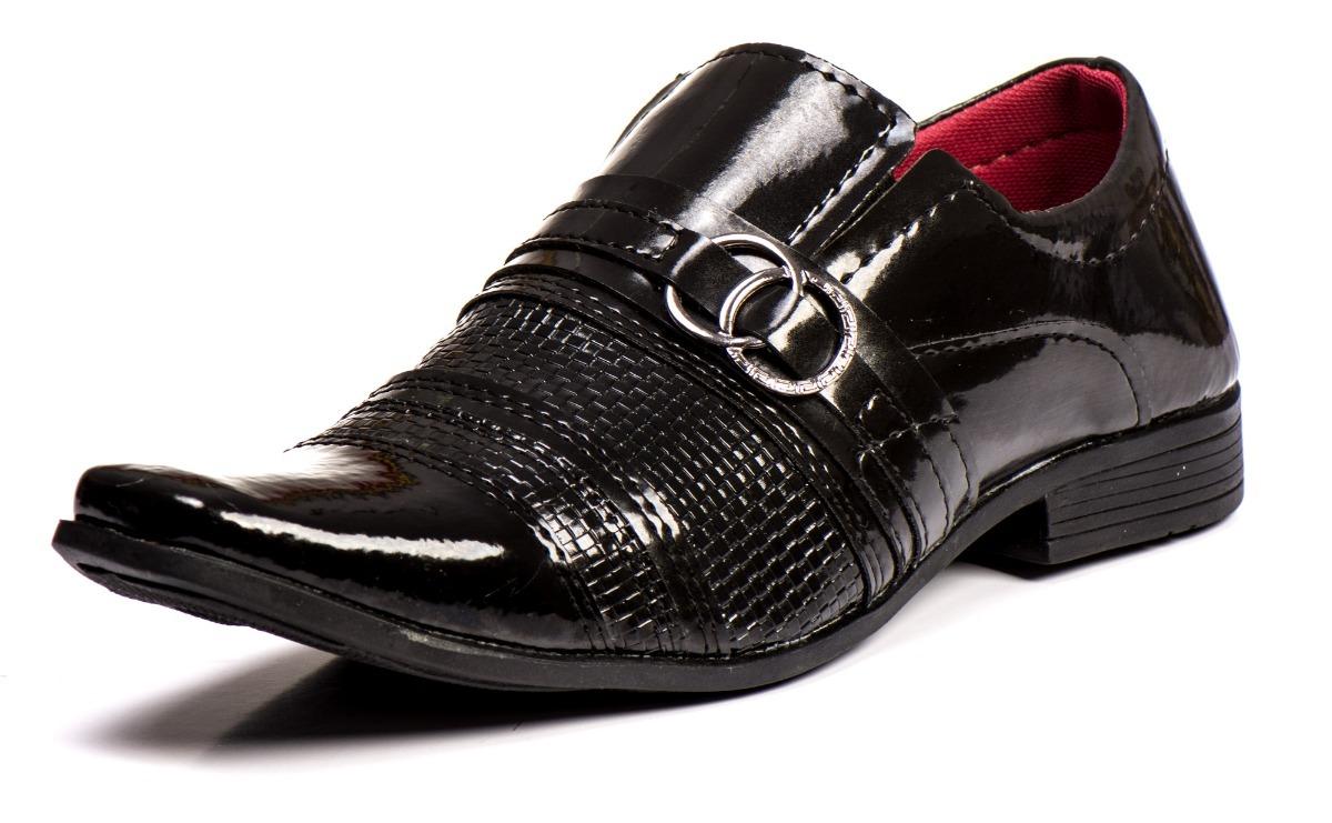 a51275fb2 Sapato Social Masculino Couro Sintetico Com Verniz !! - R$ 32,66 em ...