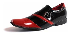 503b269ed6 Sapato Social Masculino Verniz Preto E Branco - Sapatos com o ...