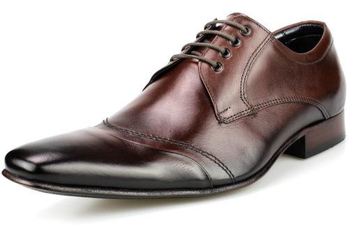 sapato social masculino de amarrar marrom preto bigioni