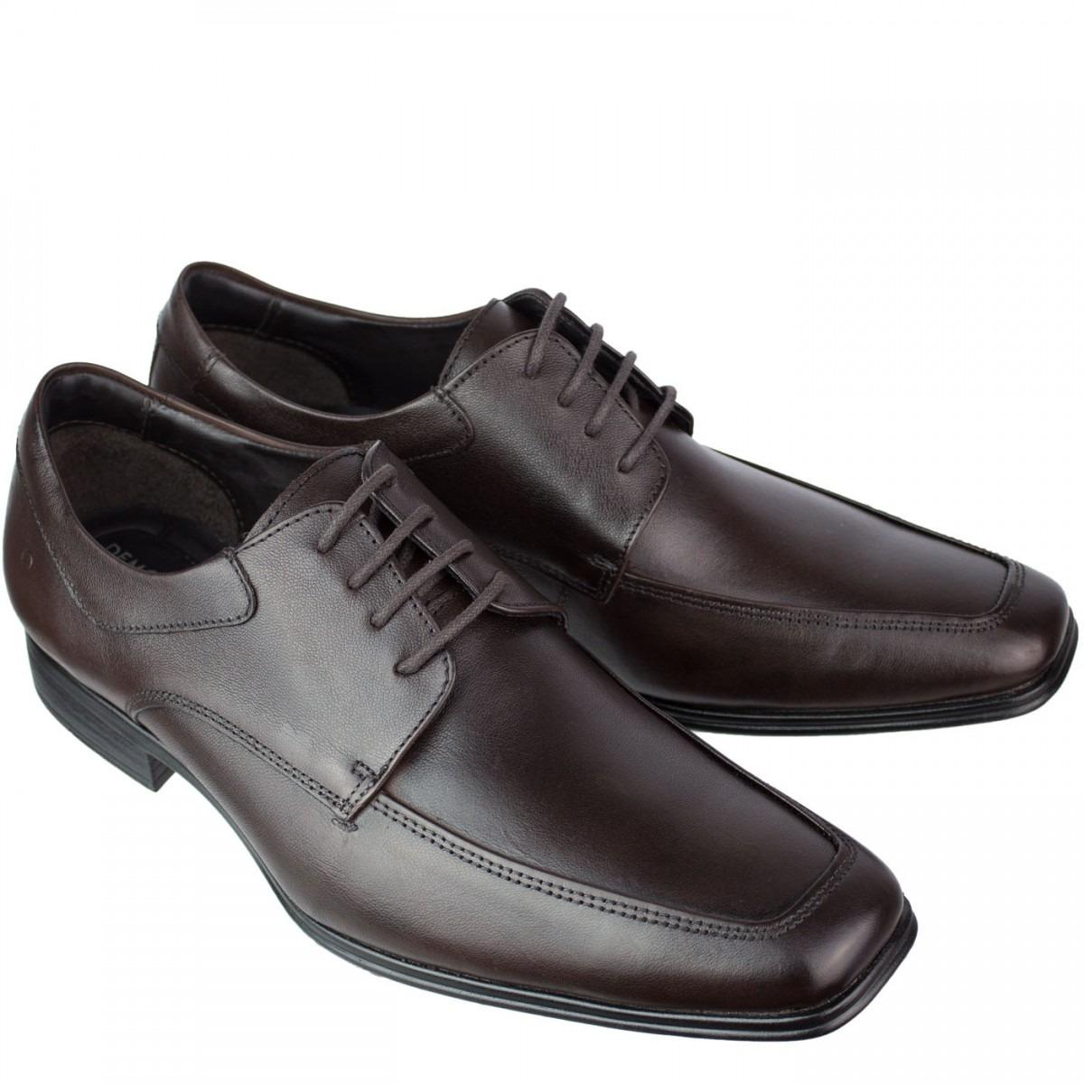 37d81b359 sapato social masculino democrata 028111 couro cadarço. Carregando zoom.