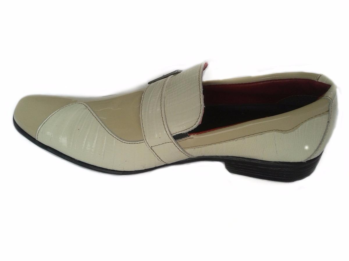 179da8610 Sapato Social Masculino D'jasson Couro Legítimo Bege - R$ 119,50 em Mercado  Livre