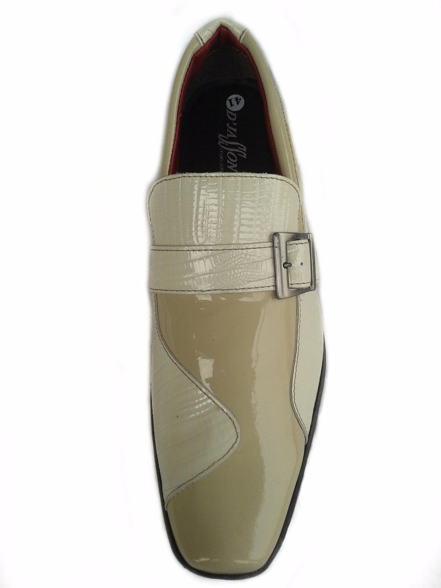 61c2a19f4 Sapato Social Masculino D'jasson Couro Legítimo Bege - R$ 119,50 em ...