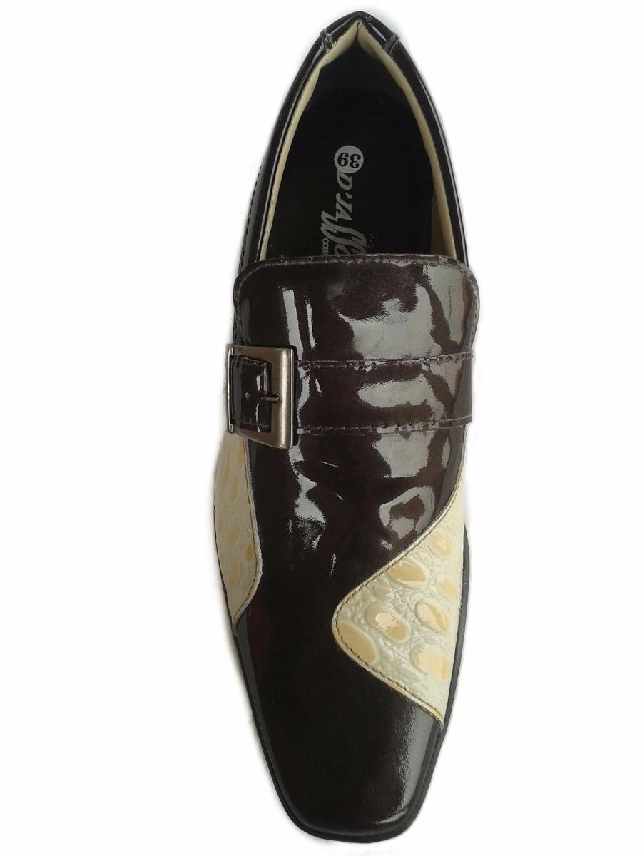 74f98e530 Sapato Social Masculino D'jasson Couro Legítimo Vinho - R$ 119,50 em ...
