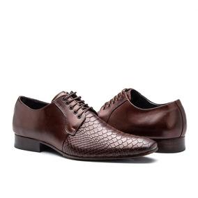 d7b069ef1 Sapato Social Tng Crocodilo Marrom - Sapatos para Masculino no ...