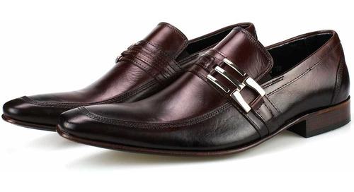 sapato social masculino em couro executivo estilo italiano